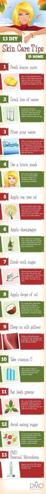Skinny Diva Beauty: Infographic: 13 DIY Skin Care Tips @ Home