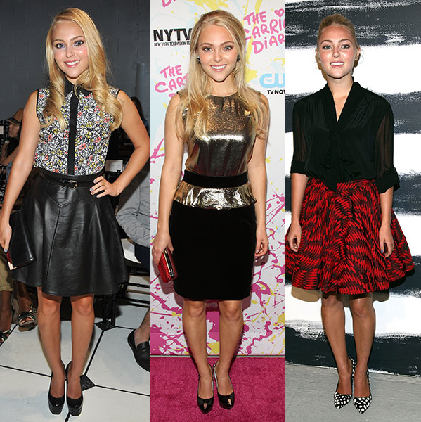 AnnaSophia Robb's outfits...really diggin' the middle outfit..