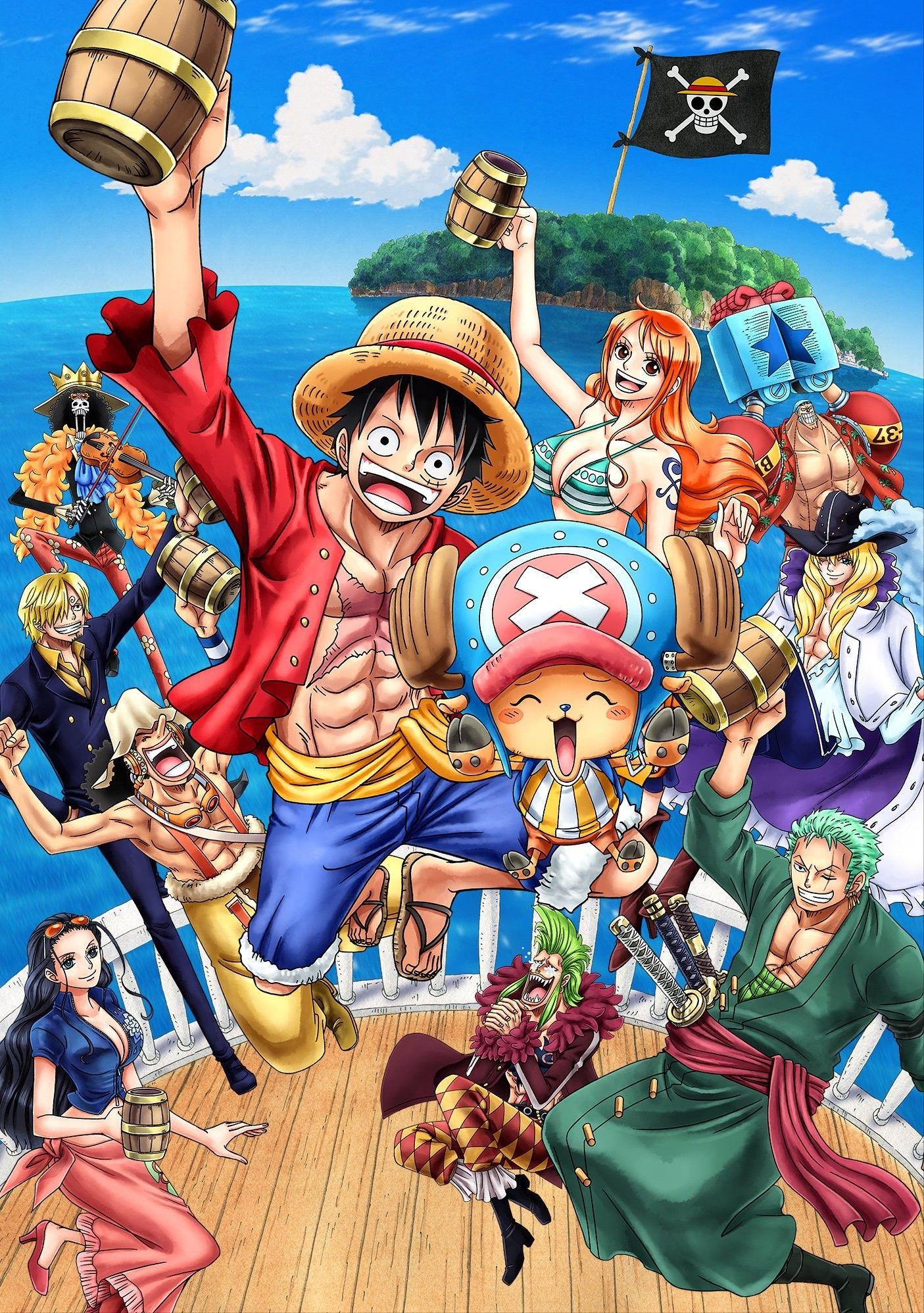 One Piece Chapéus de Palha Anime, Mangá wallpaper