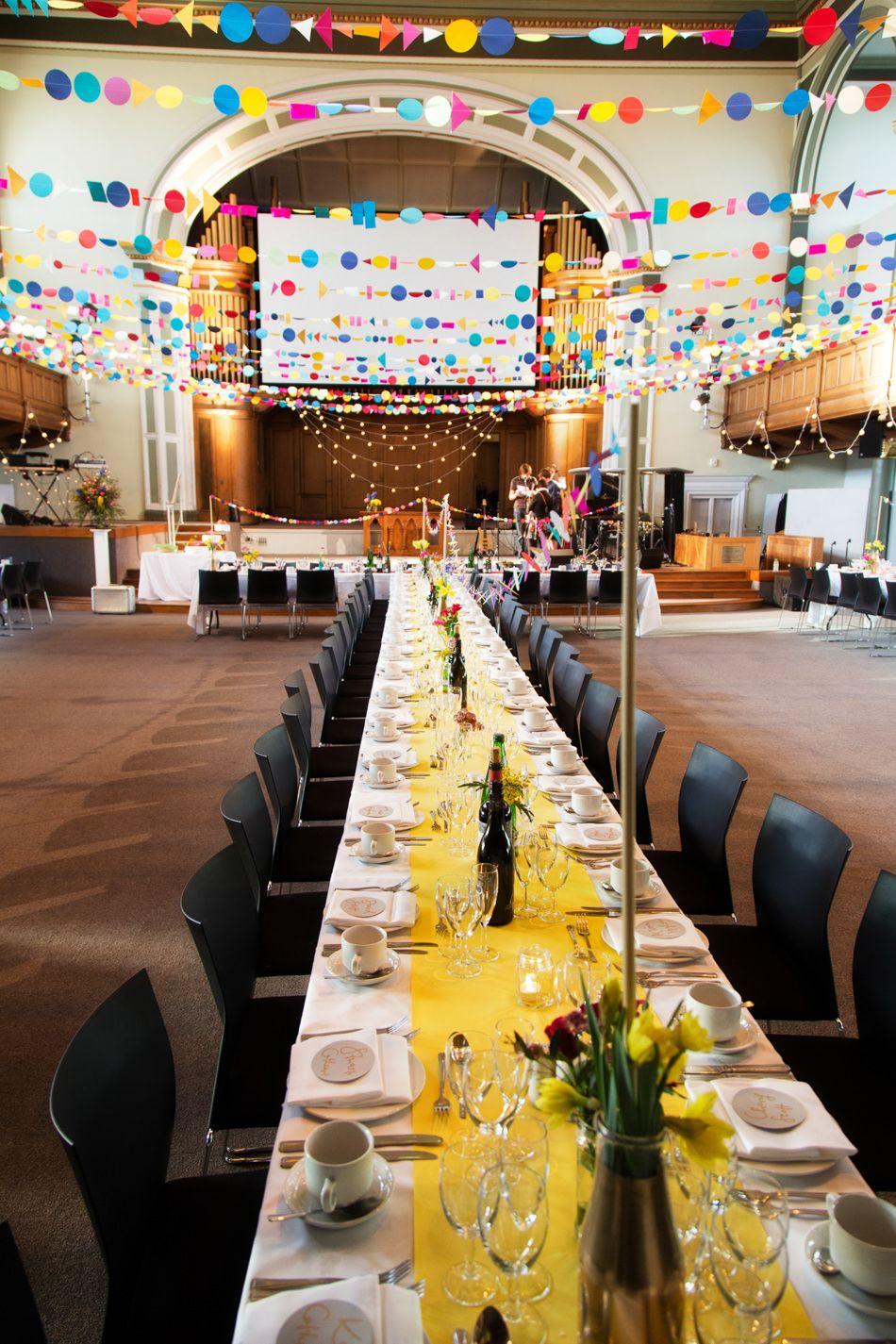 Central Hall Edinburgh Wedding Venue For A Colourful Modern Wedding