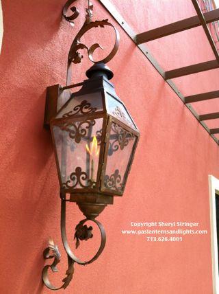 French Scroll Gas Lantern W Curls Gas Lanterns And Lights Gas Lanterns Lantern Designs Gas Lights