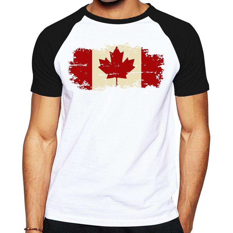 CANADA CANADIAN FLAG EMBLEM PRINTED DESIGN COOL SPORTS BREATHABLE TSHIRT