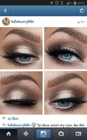 Makeup ideas for cobalt blue dress with gold embellishment. | Makeup ...