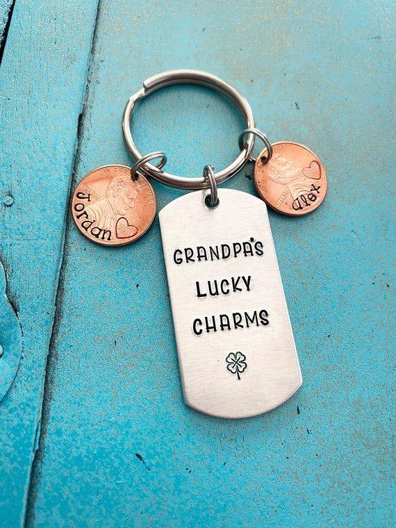 Grandpa Keychain, Christmas Gift For Grandpa, Papa Personalized Gift For Him, Grandpa Birthday Gift,