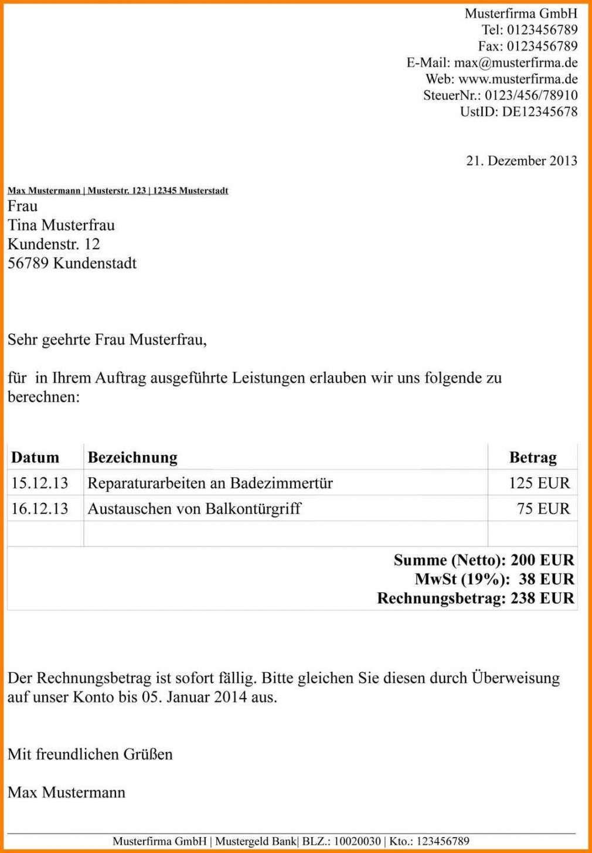 Harmonischerstaunlich Vorlage Rechnung Ohne Umsatzsteuer V 2020 G Idei Po Organizacii Prostranstva