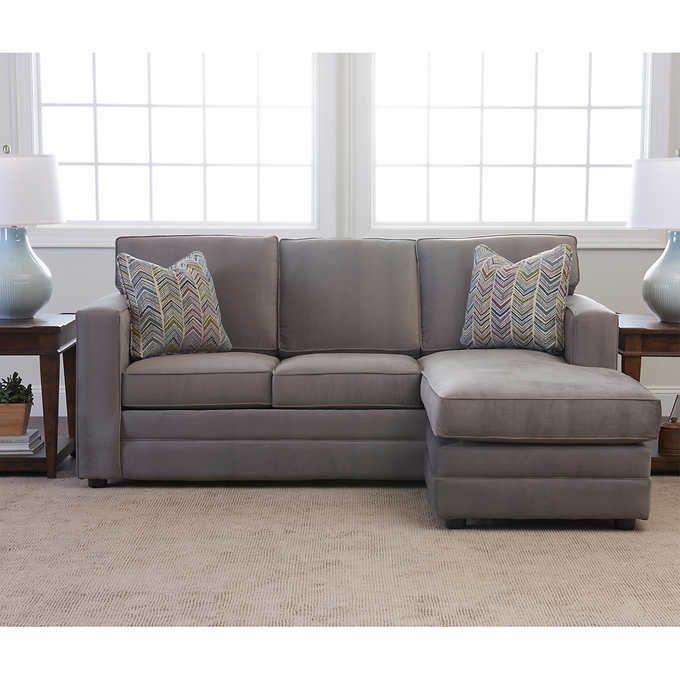 Beeson Fabric Queen Sleeper Reversible Sectional Gray 1 299 99