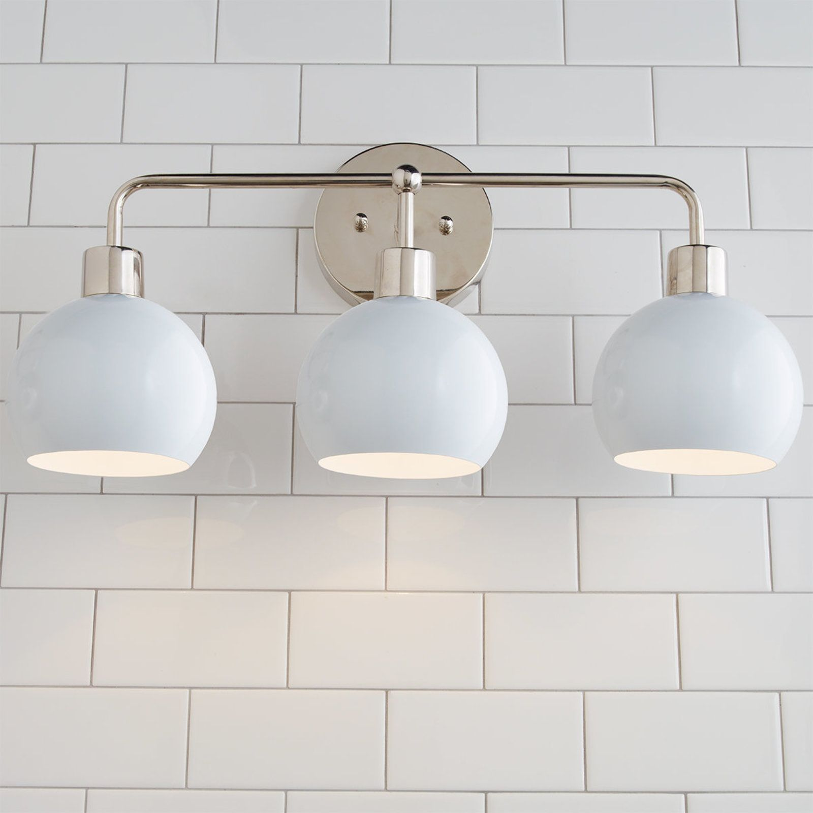 Young House Love Bubble Vanity Light 3 Light With Images Vanity Lighting Modern White Bathroom Young House Love
