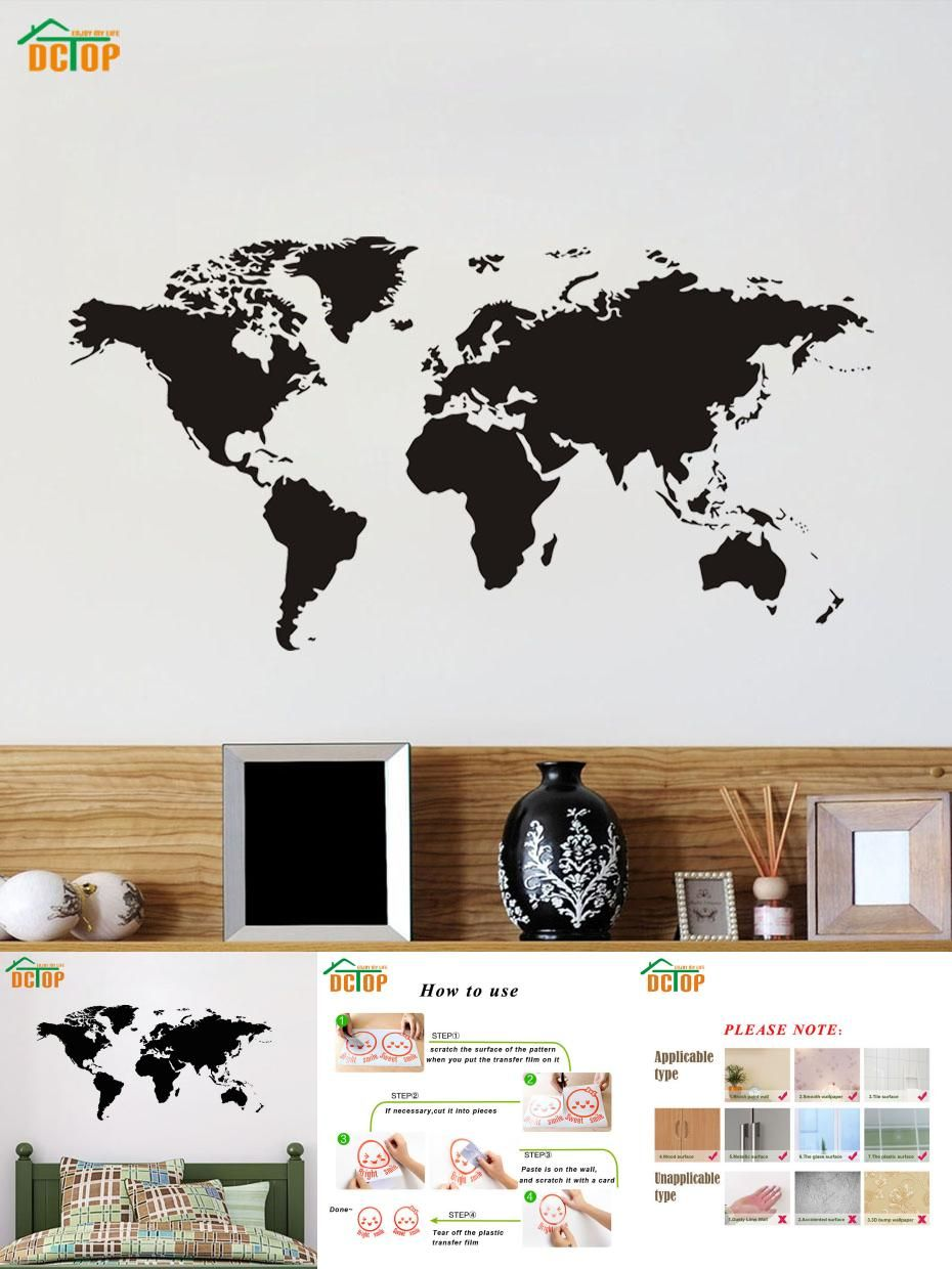Visit to buy dctop scratch world map black wall stickers for kids visit to buy dctop scratch world map black wall stickers for kids room study gumiabroncs Image collections