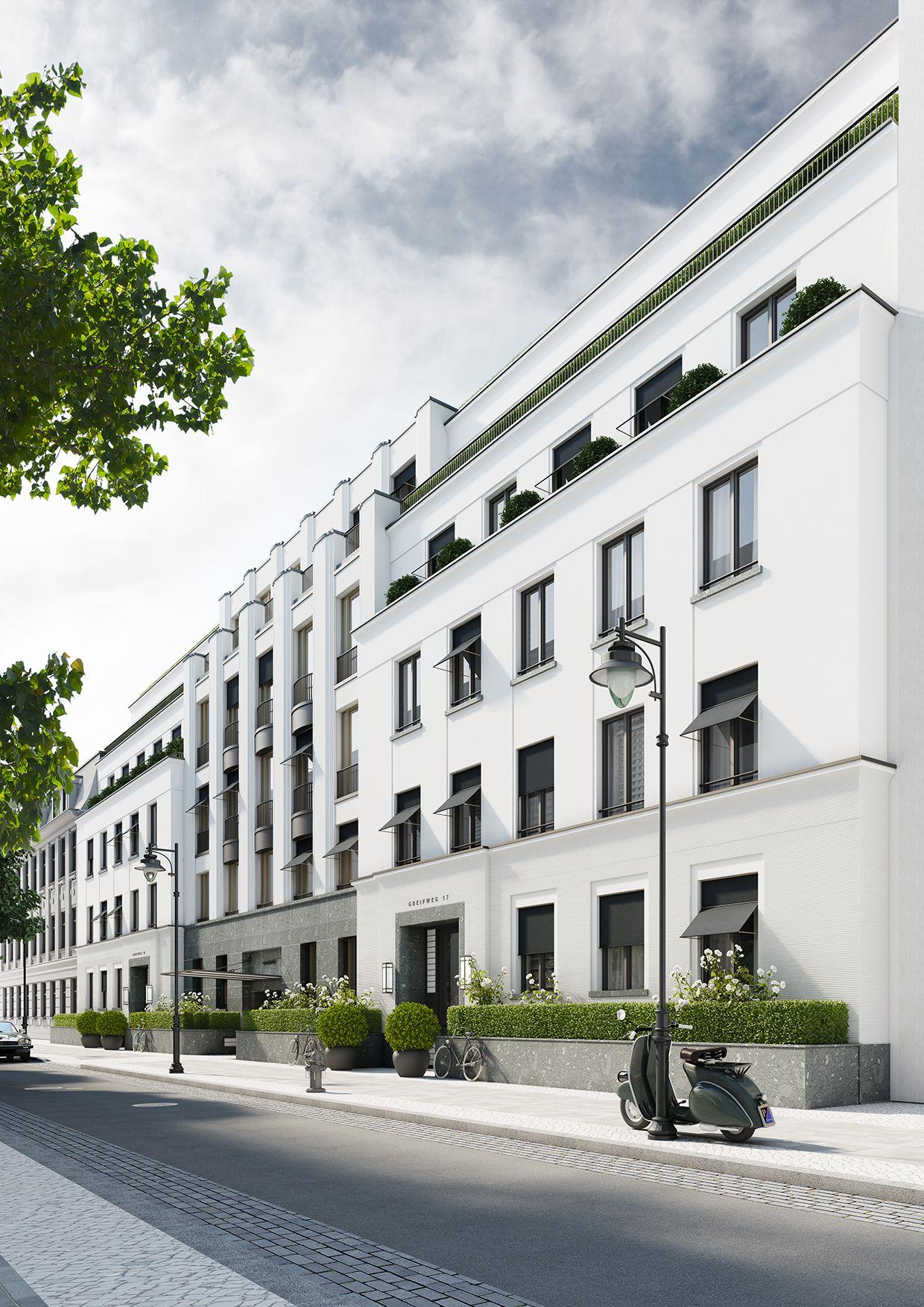 Wohnbebauung mit 16 wohneinheiten d sseldorf structure for Classic house facades