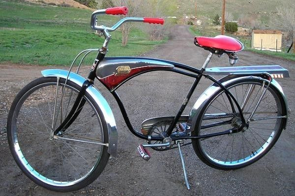 52ceff1cce9 1957 AMF Shelby Flyer AirFlow Bicycle Townie Bike, Cruiser Bicycle, Old  Bikes, Vintage