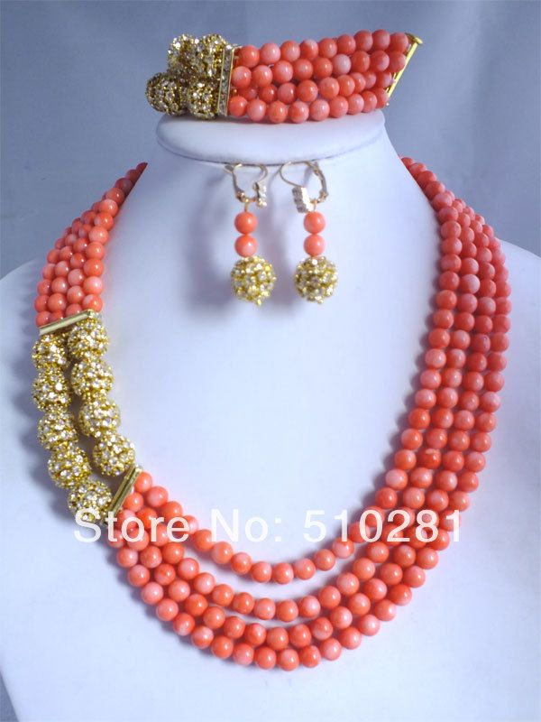 Amazing fashion new design, African coral jewelry set for wedding No ...