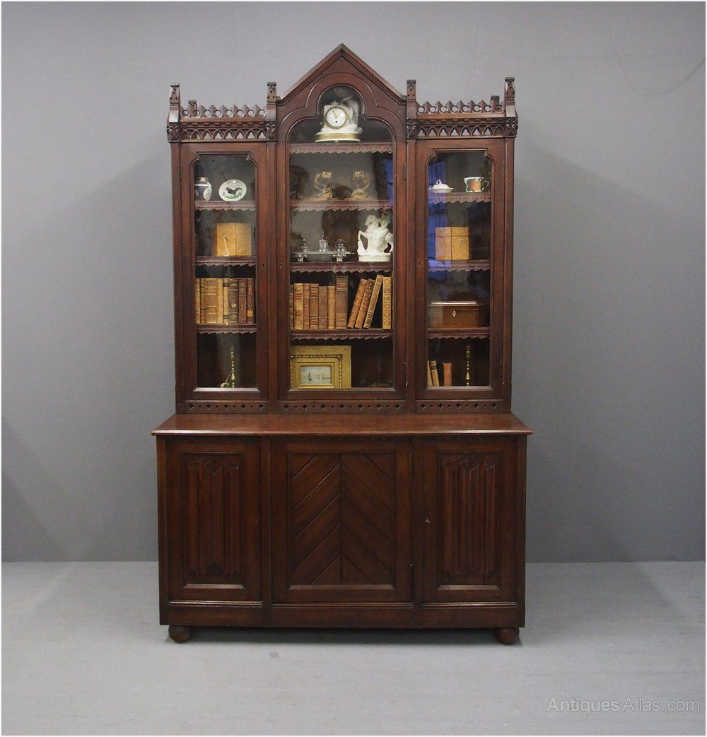 Gothic Scottish Pitch Pine Cabinet Bookcase Pine Cabinets