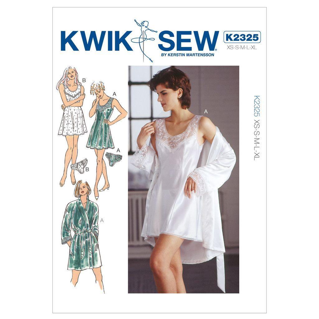 Kwik Sew K2325 Sewing Pattern Misses\' Chemise Robe & Panties ...