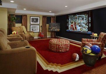 Wanda Brown Designs, LLC contemporary media room