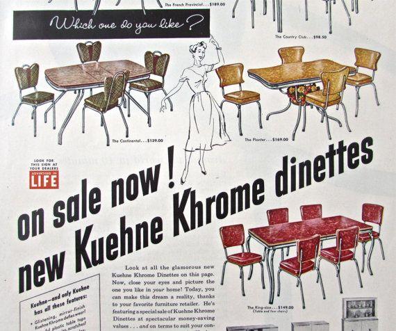 1950 Vintage Decor Advertising Retro Arborite Tables
