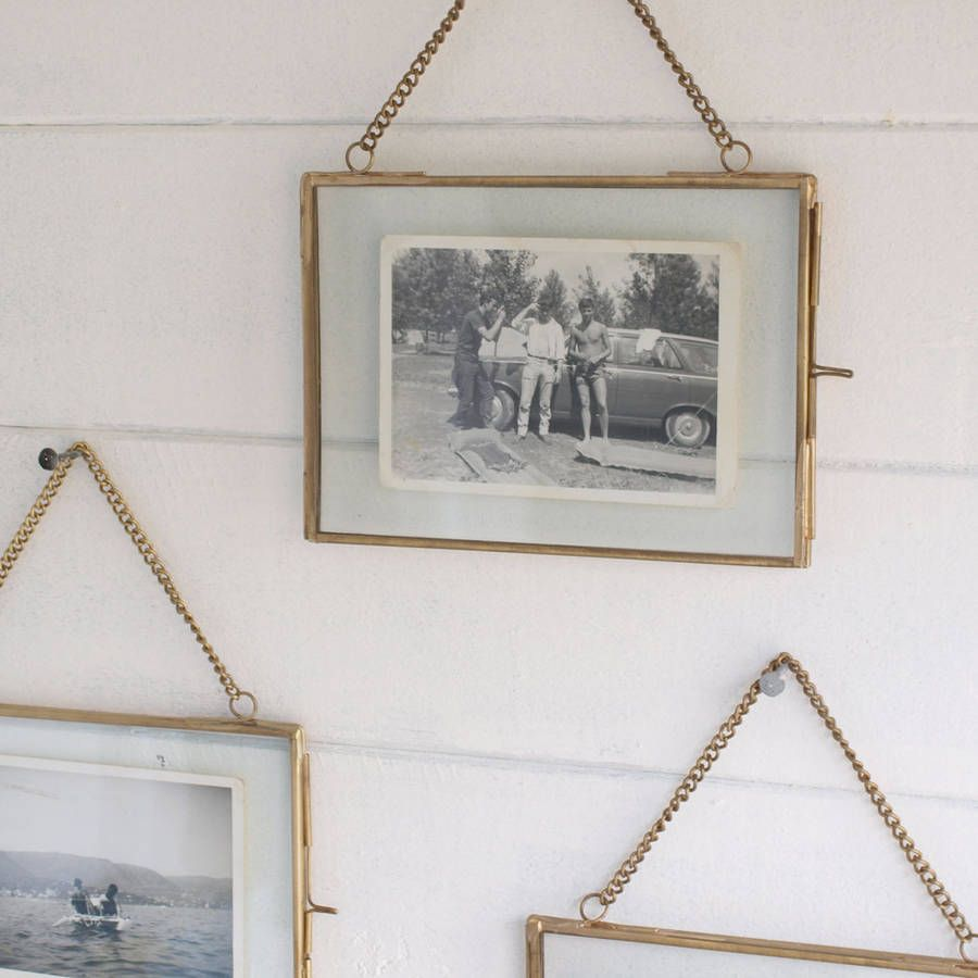 Hanging Brass Or Silver Photo Frame In 2019 For The Home