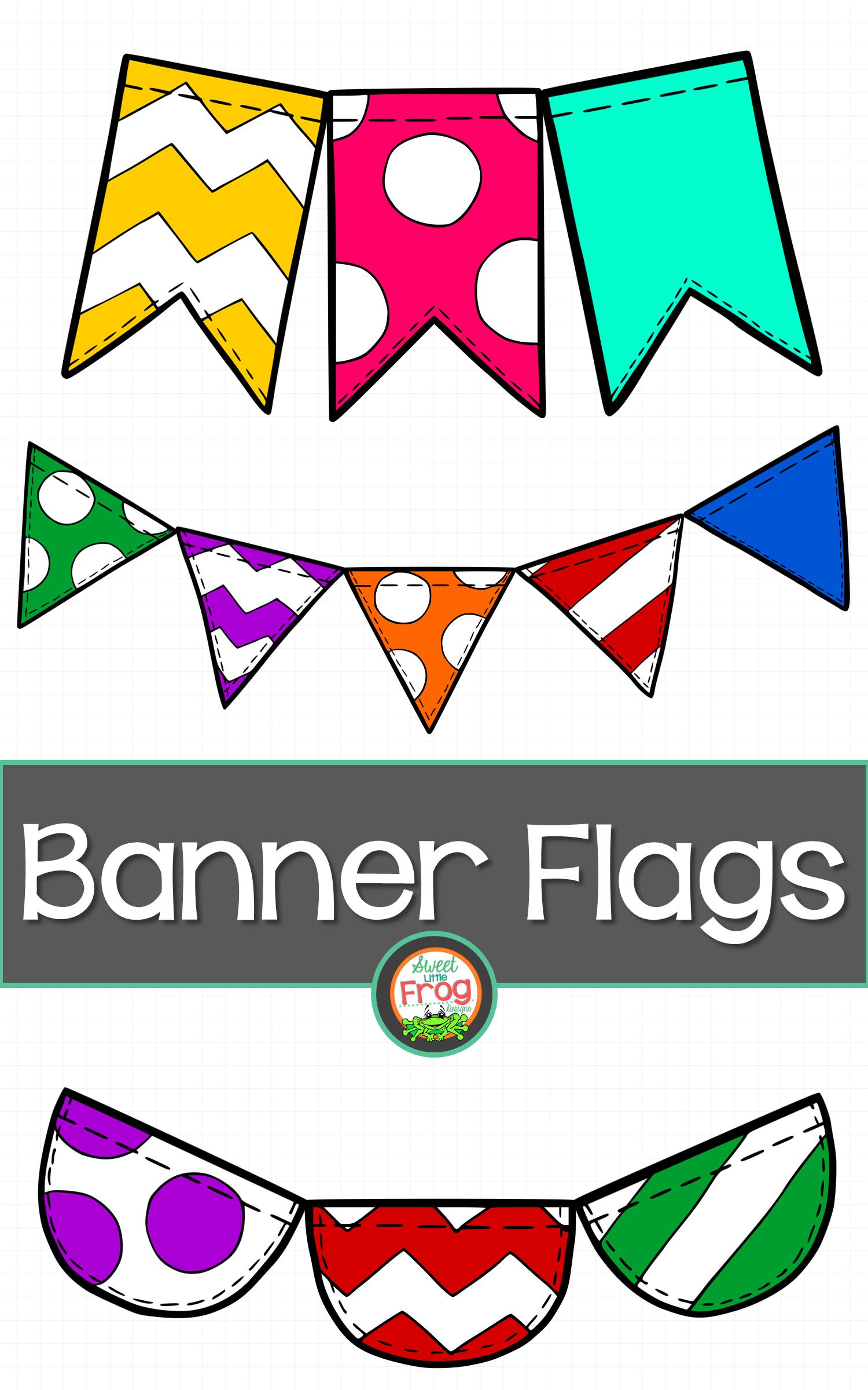 Banner Flags In Bold Colors Clip Art Flag Art Clip Art Banner