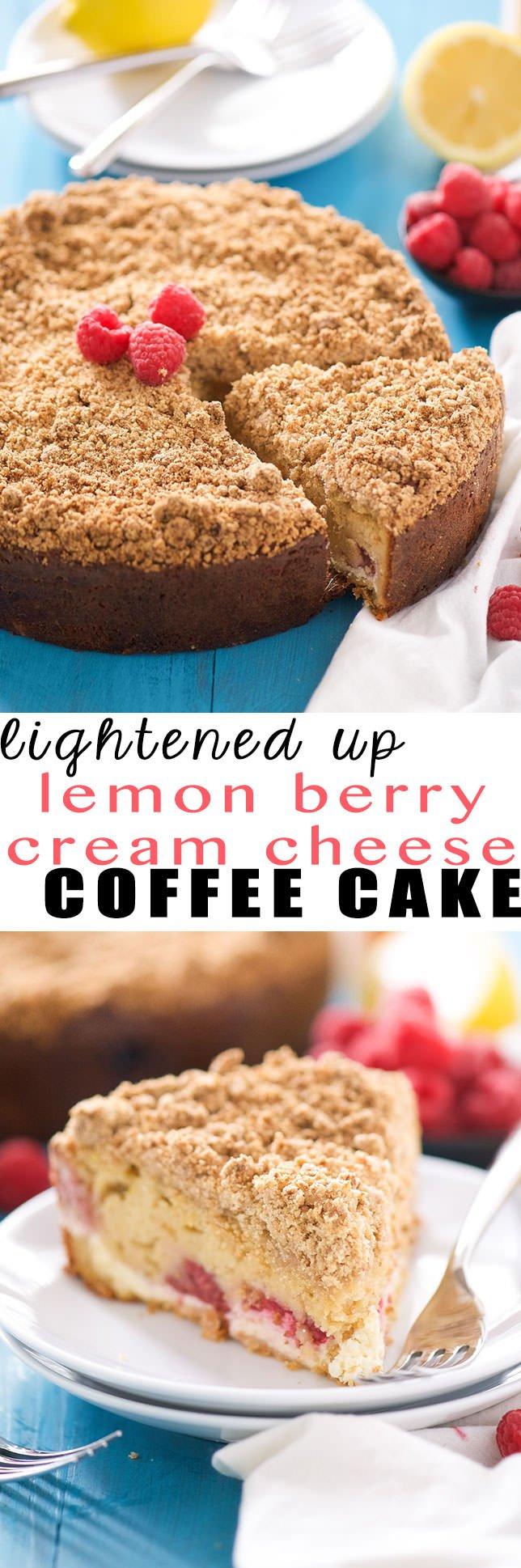 Lightend Up Lemon Berry Cream Cheese Coffee Cake Recipe