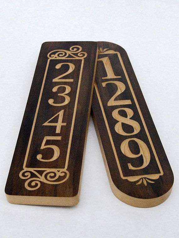 Vertical House Number Sign 4 X14 House Number Column Plaque House Number Plaque For Narrow Spaces Mailbox Number Plaque House Numbers House Number Plaque Wooden Diy