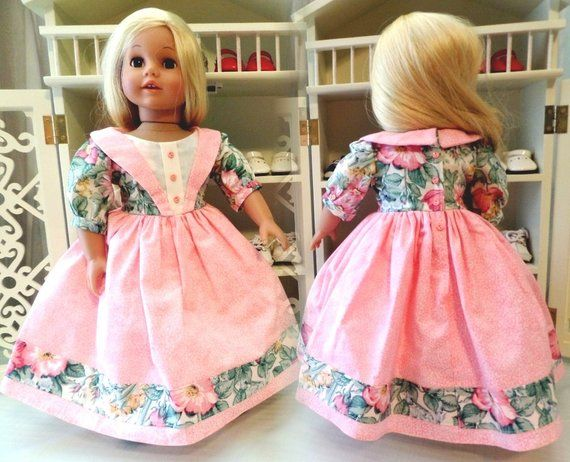 1800 - 1860 Victorian Day Doll Dress And Fancy Doll Pantaloons / Doll Collectors / Doll Clothes / Doll Accessories / Fits American Girl Doll #dressesfromthesouthernbelleera