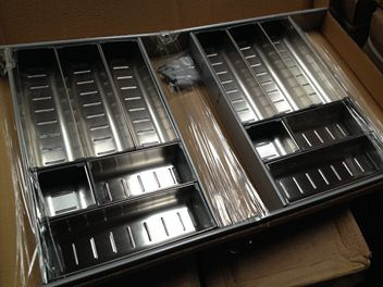 12 Compartment Stainless Steel Cutlery Tray Drawer