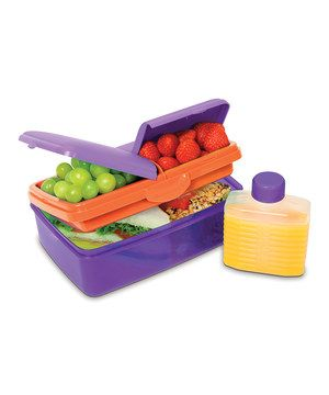 Love this Sistema Purple 50Oz. Slimline Quaddie Lunch Box
