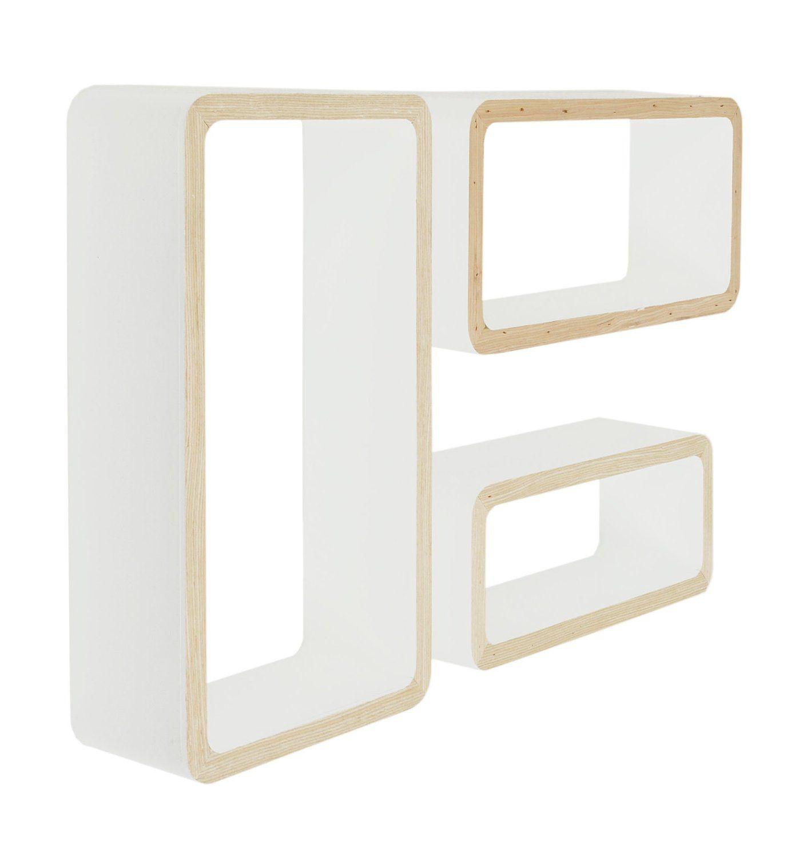 Ts ideen lot de 3 x conception de placard tag re pour for Conception placard