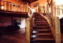 Oak stairway