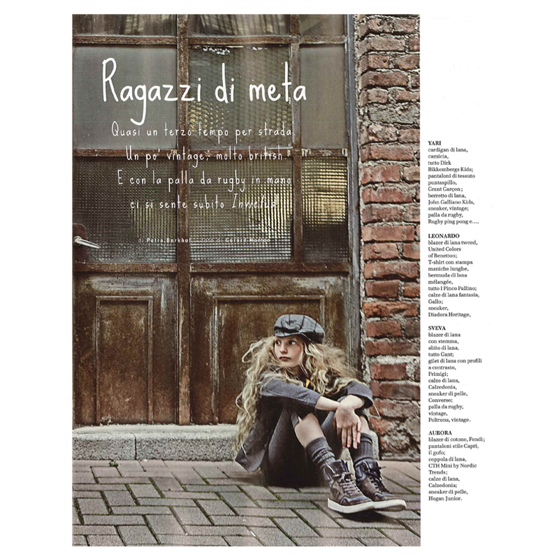 HOGAN for STYLE Piccoli Italy - July/August 2013. Junior's ...