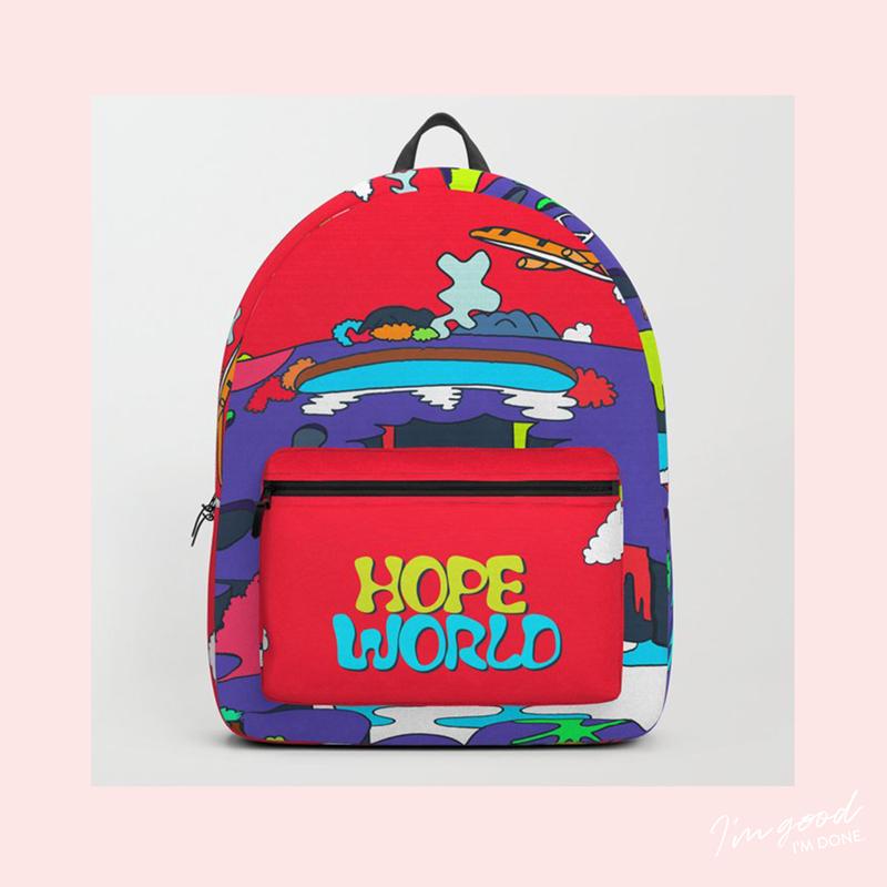 76e7ecc7a0 JHope Hope World Backpack mixtape BTS Bangtan Kpop album art