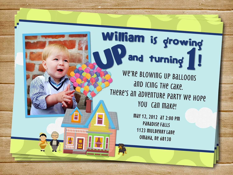 Printable Up Birthday Invite Up Birthday Invitation Up Party Balloon Invite By Sparetimeprints On E Movie Theme Birthday Party Birthday Party Planning Birthday