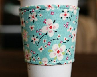 Items similar to Coffee Cozy - Reversible on Etsy