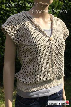 Hand made crochet sleeveless cardigantop.