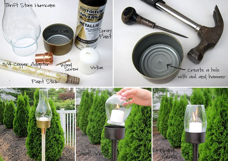 How To Make Tuna Can Outdoor Candle Lantern   DIY U0026 Crafts   Handimania