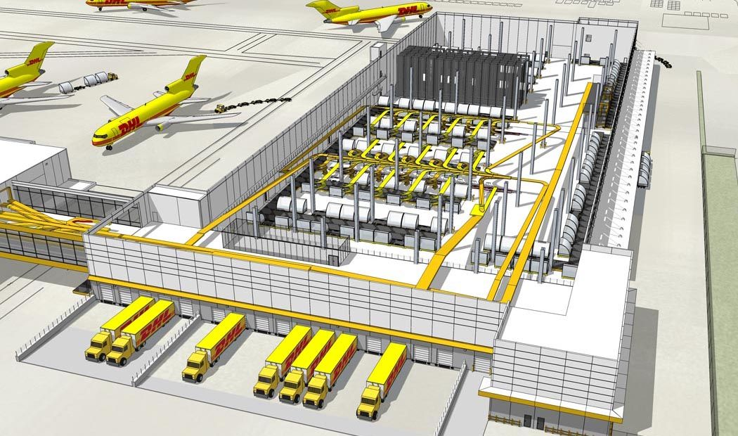 Dhl Building Five Package Distribution Center Bhdp Integrated Industrial Design Pinterest