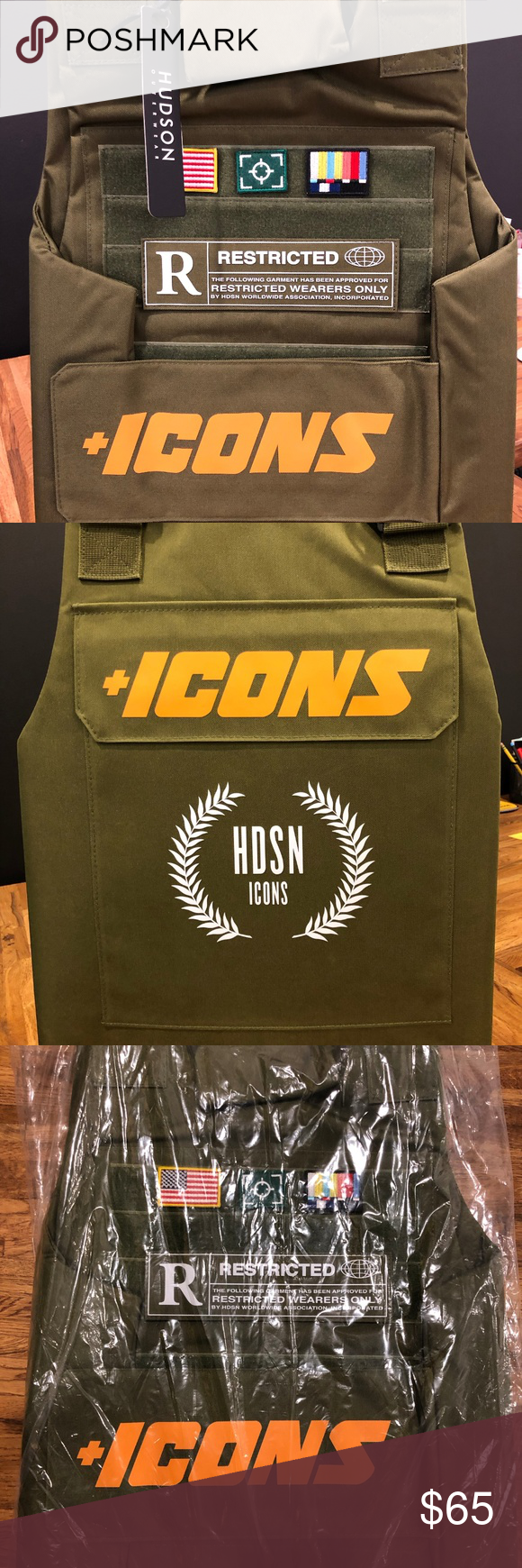 Olive Green Hudson NYC ICONS Tactical Vest Boutique