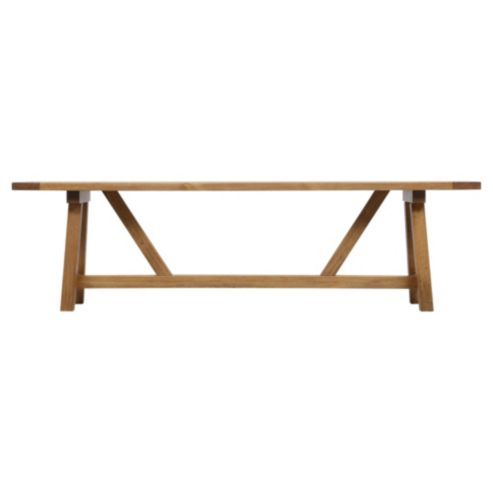 Buy Portobello Rustic Pine Trestle Dining Bench From Our Dining Benches  Range At Tesco Direct.