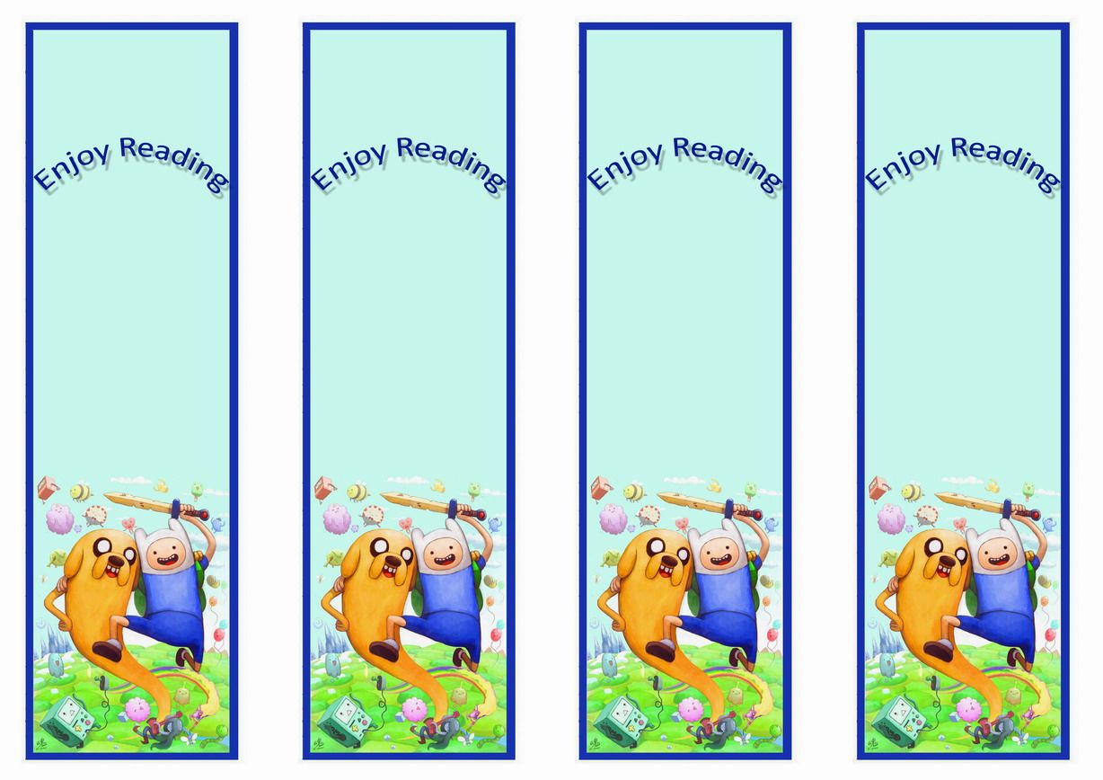 Adventure Time Themed Bookmarks | Themed Bookmarks - FREE Printables ...