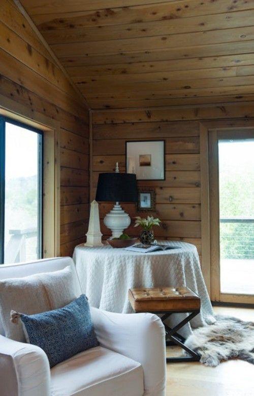 einrichtung holzwände weiß und braun #Design #dekor #dekoration - Wohnzimmer In Weis Und Braun