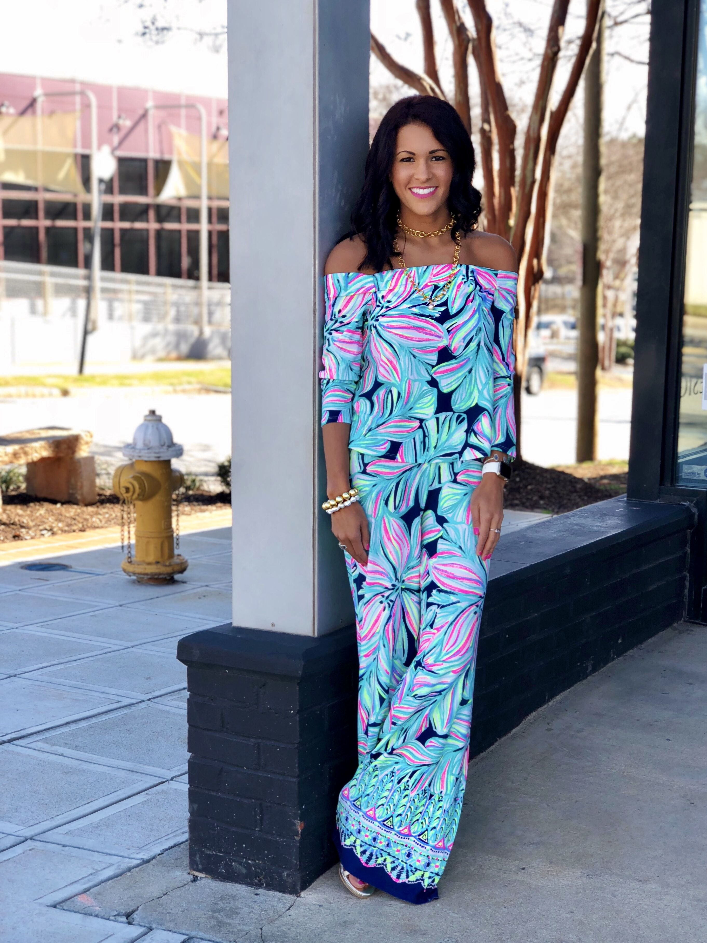 d633c983f4132f Lilly Pulitzer Spring 2018 Weslee Set High Tide Dancing Lady USC Upstate  Campus Rep Pink Bee on Campus