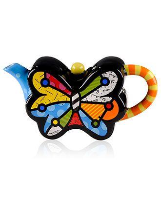 Romero Britto Mini Butterfly Teapot - Macy's
