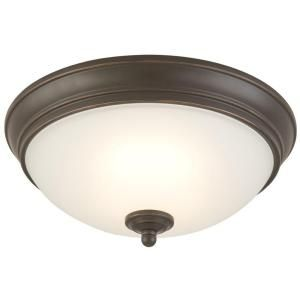 Commercial Electric, Oil Rubbed Bronze LED Flushmount, HUI8011L-2/ORB at The Home Depot - Mobile