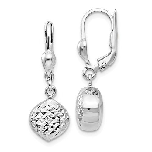 d6753ed90 $199.99 - ICE CARATS 14kt White Gold Drop Dangle Chandelier Leverback  Earrings Lever Back Fine Jewelry Ideal Gifts For Women Gift Set From Heart