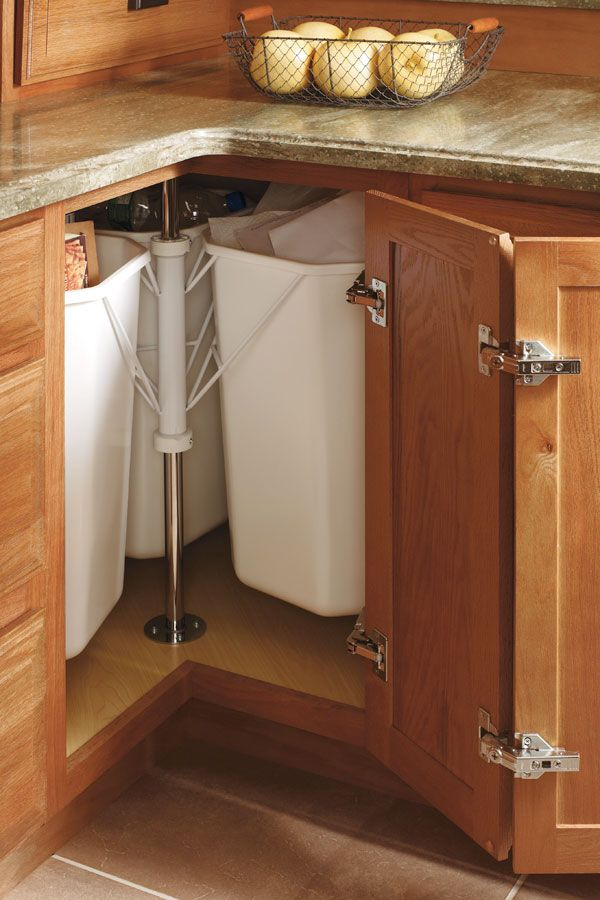 center turn kitchen cabinets for beautiful cabinet into of adding bins a recycling base pullout by