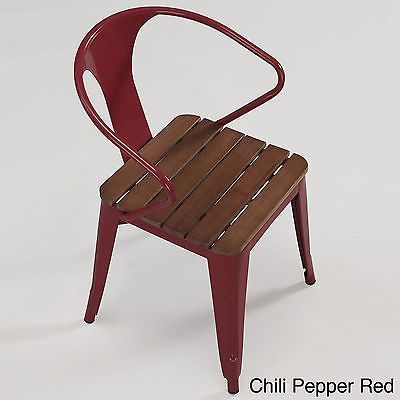 stackable metal patio chairs tempur pedic office chair red industrial retro 4 cafe vintage style dining outdoor