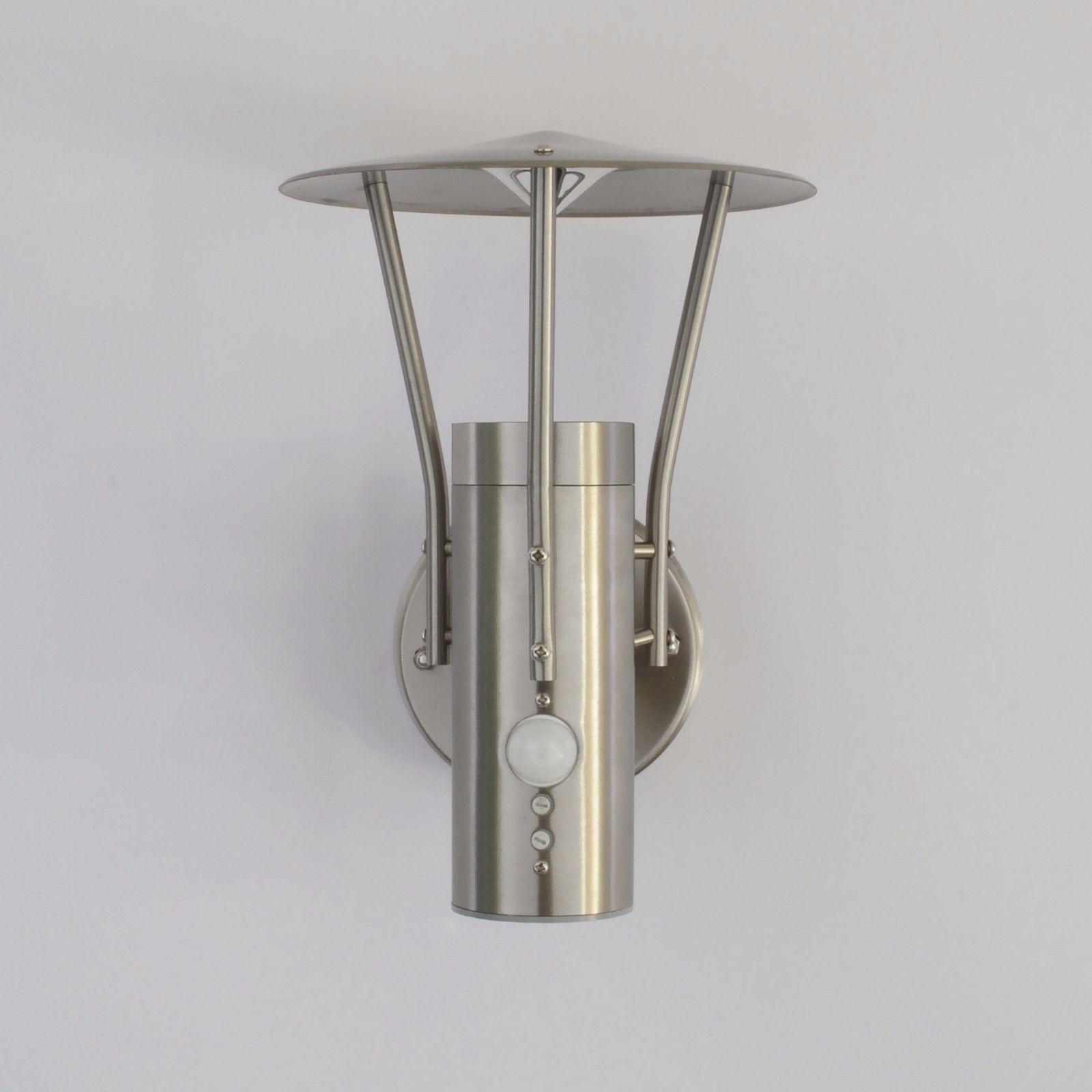 Außenleuchte LED Wandlampe Aussenlampe Lampe GU10 Edelstahl 242  Bewegungsmelder In Heimwerker, Lampen U0026 Licht,