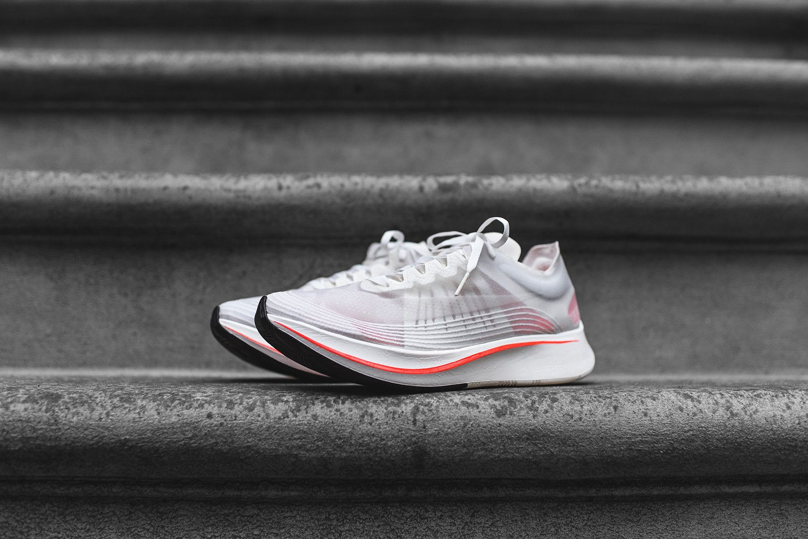 NikeLab Zoom Fly SP - White   Sail   Crimson – Kith 7c0e5b307