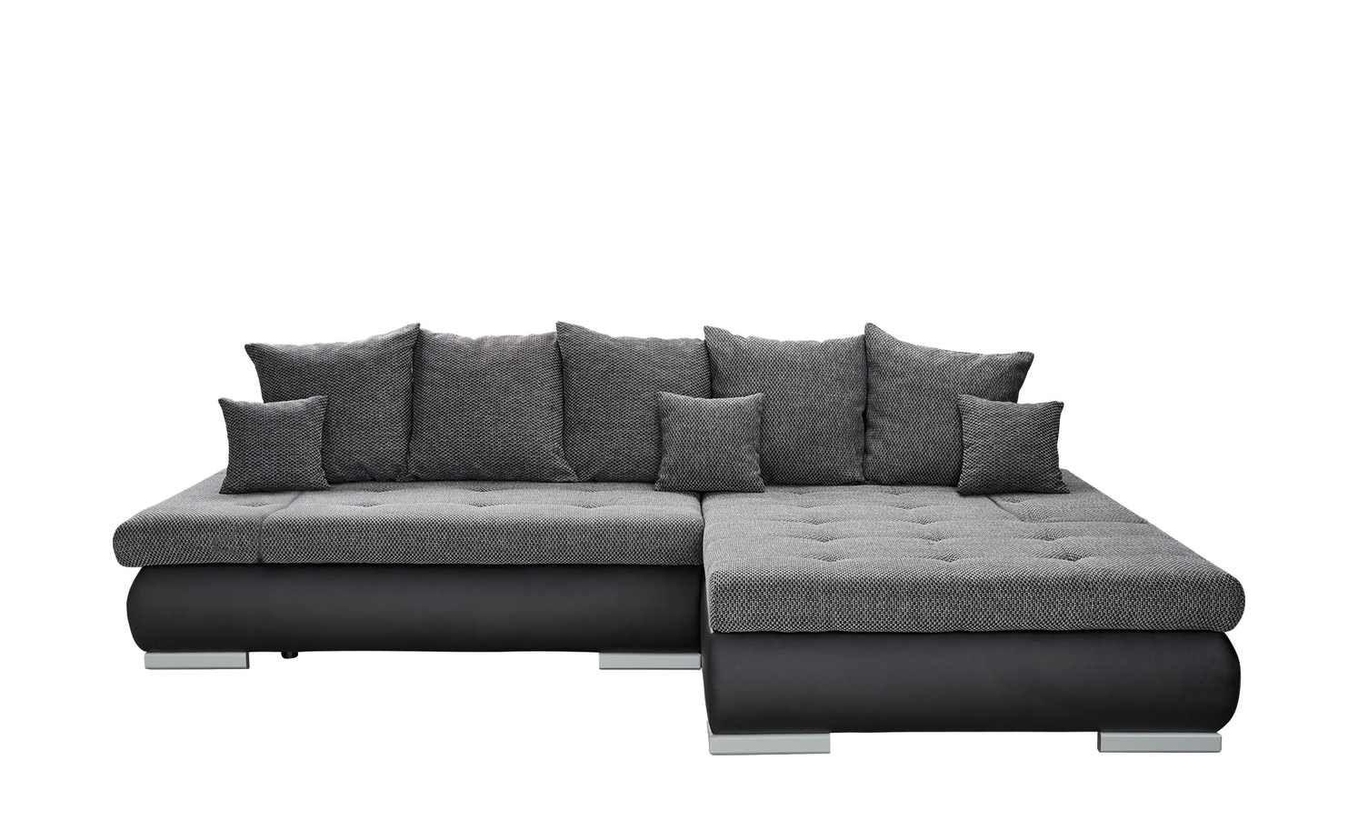 Switch Eckcouch Schwarz Grau Kunstleder Webstoff Ivan Mit Bildern Eckcouch Couch Eckcouch Mit Schlaffunktion