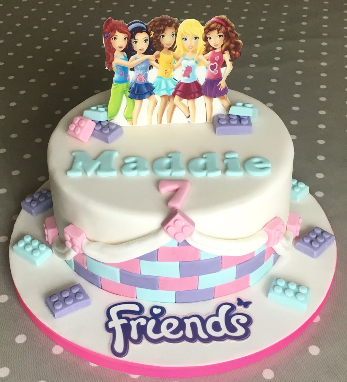 Superb Lego Friends Cake Lego Friends Cake Lego Birthday Cake Personalised Birthday Cards Paralily Jamesorg