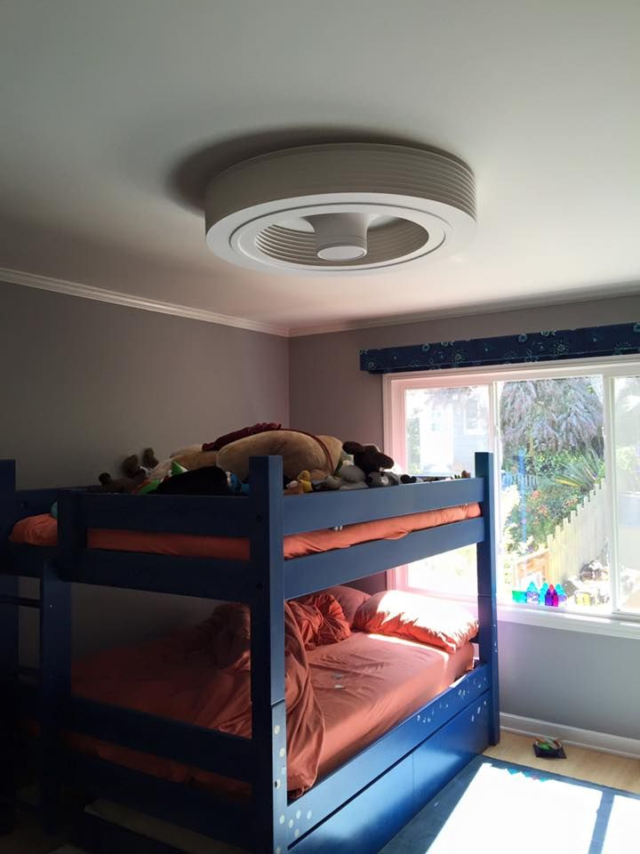 Bunkbeds low ceilings no problem with a bladeless for Bedroom ideas low ceiling